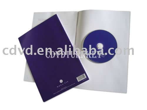 CD DVD disc with presswork assembly