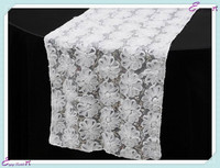 YHR#13 ribbon&sequin banquet wedding wholesale table runner cloth overlay linens