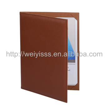 wholesale star hotel menu booklet cover leather menu holder for