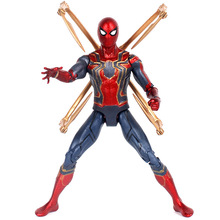 PVC Fleksibel Bergerak Infinity War Hero Spider Man Action Figure