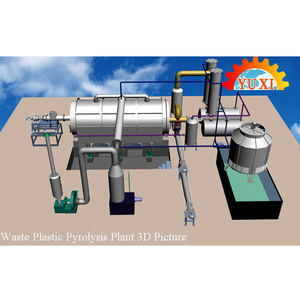 Rubber/Plastic/Tyre Recycling/Refining To Fuel Oil Machine/Waste Tyre  Pyrolysis Machine