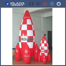 inflatable pvc toy/ small inflatable rocket for promotion