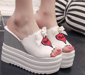 Summer nice new design trend fashion outdoor beautiful pearl bowknot waterpoof ladies sandals