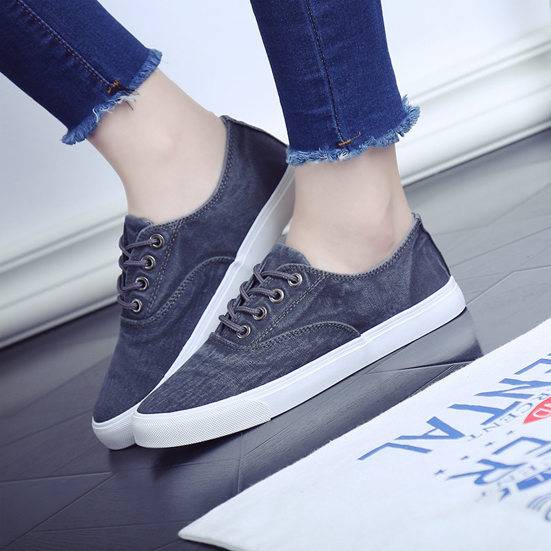 Ourdoor casual flat - bottomed retro canvas shoes both male and female shoes