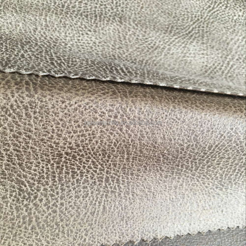 Tear-Resistant bronze suede faux leather leather powder laminated sofa fabric