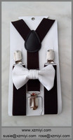 white boys bow ties brown suspenders and bow ties for boys man tie set
