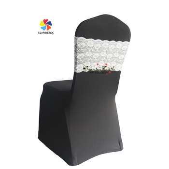 Miraculous Wholesale Classic Wedding Spandex Chair Cover With Lace Band White Buy Cheap Spandex Chair Cover Lace Chair Sashes Chair Covers And Sashes For Sale Download Free Architecture Designs Barepgrimeyleaguecom