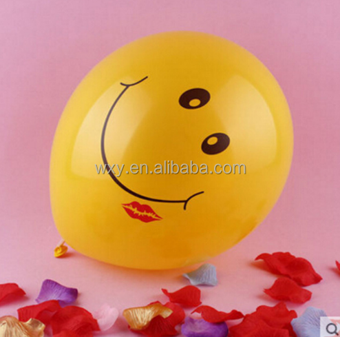 Smile Face 12inch 30cm Printed Round Latex Balloon For Party Suppliy Balloons Children Classic Toys