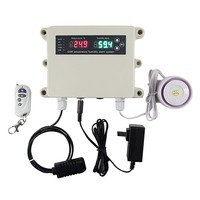 Digital Humidity and Temperature Monitor Alarm System with Built-in Humidity Sensor Probe, GSM Temperature Monitoring