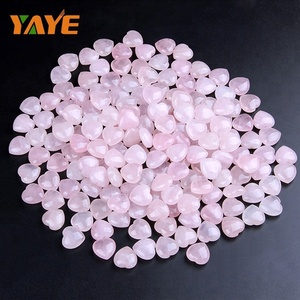 Bulk Wholesale Natural Tumbled Rose Quartz Heart Shaped Quartz Crystals
