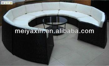 Pe 등나무 거실 가구 라운드 소파 세트 - Buy Product on Alibaba.com