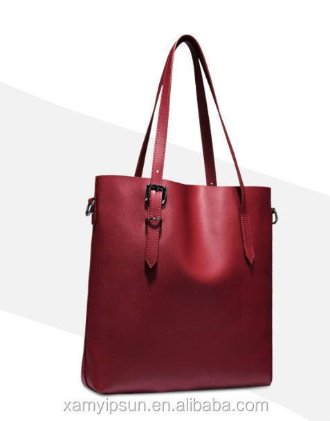 wholesale factory directly leather tote bag with jacquard lining for10 years experience