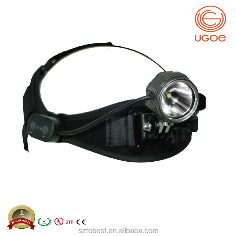 Long distance powerful 1000 lumens light-weight usb rechargeable waterproof cree led headlamp