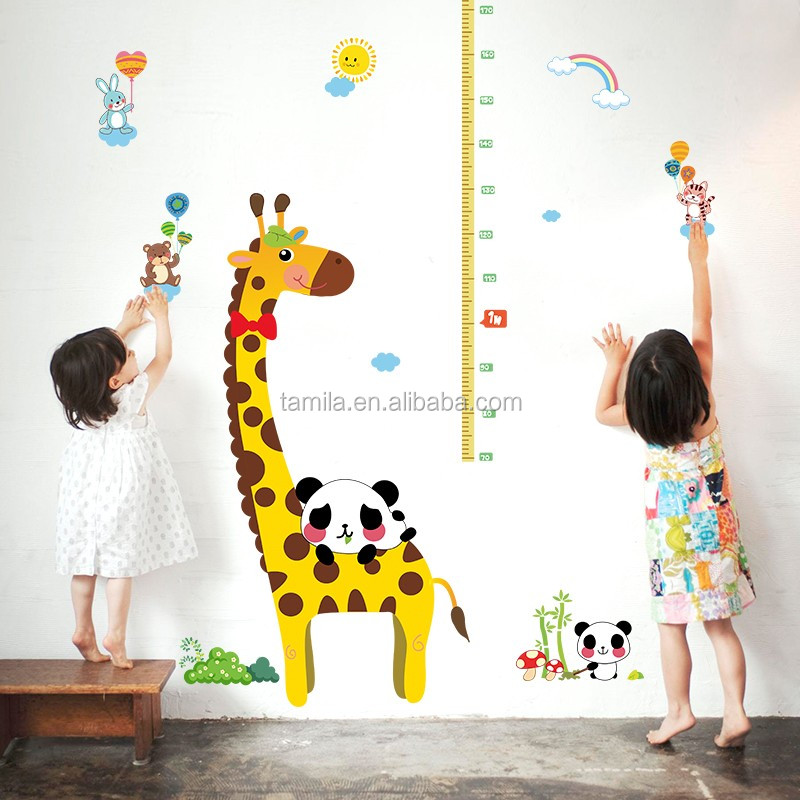 Outstanding Wholesale Good Price Reusable Cartoon Giraffe Pvc Height Removable Waterproof Growth Chart Kids Room Wall Decor Stickers Alibaba Com Home Interior And Landscaping Pimpapssignezvosmurscom