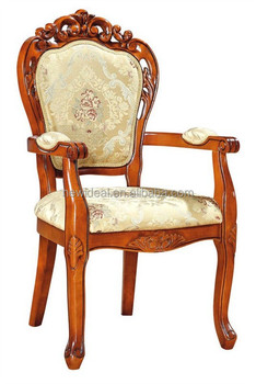 New Arrival Antique Carved Luxury Dining Chair Wood Dining Chair For