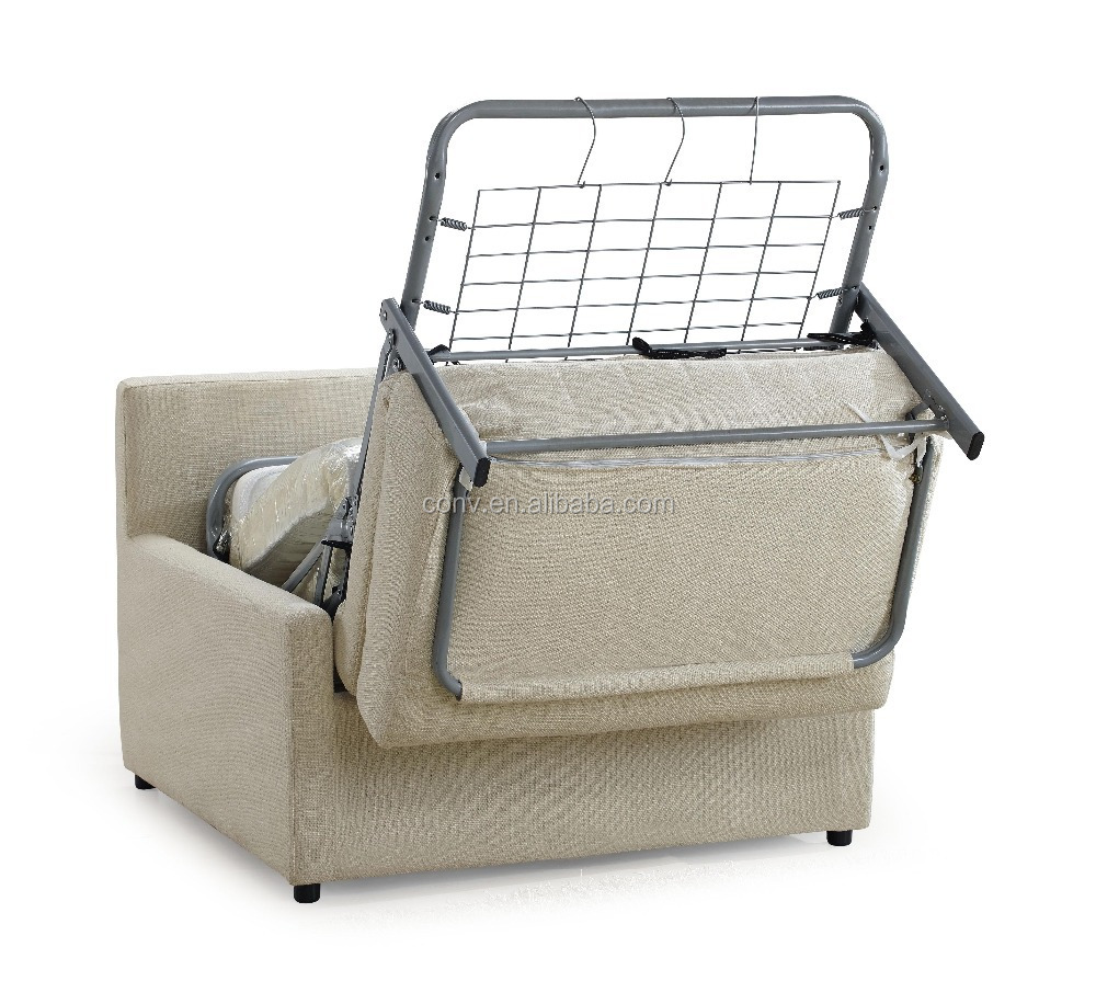 Foldable mechanism single seat country style sofa bed for Sofa bed 1 seater