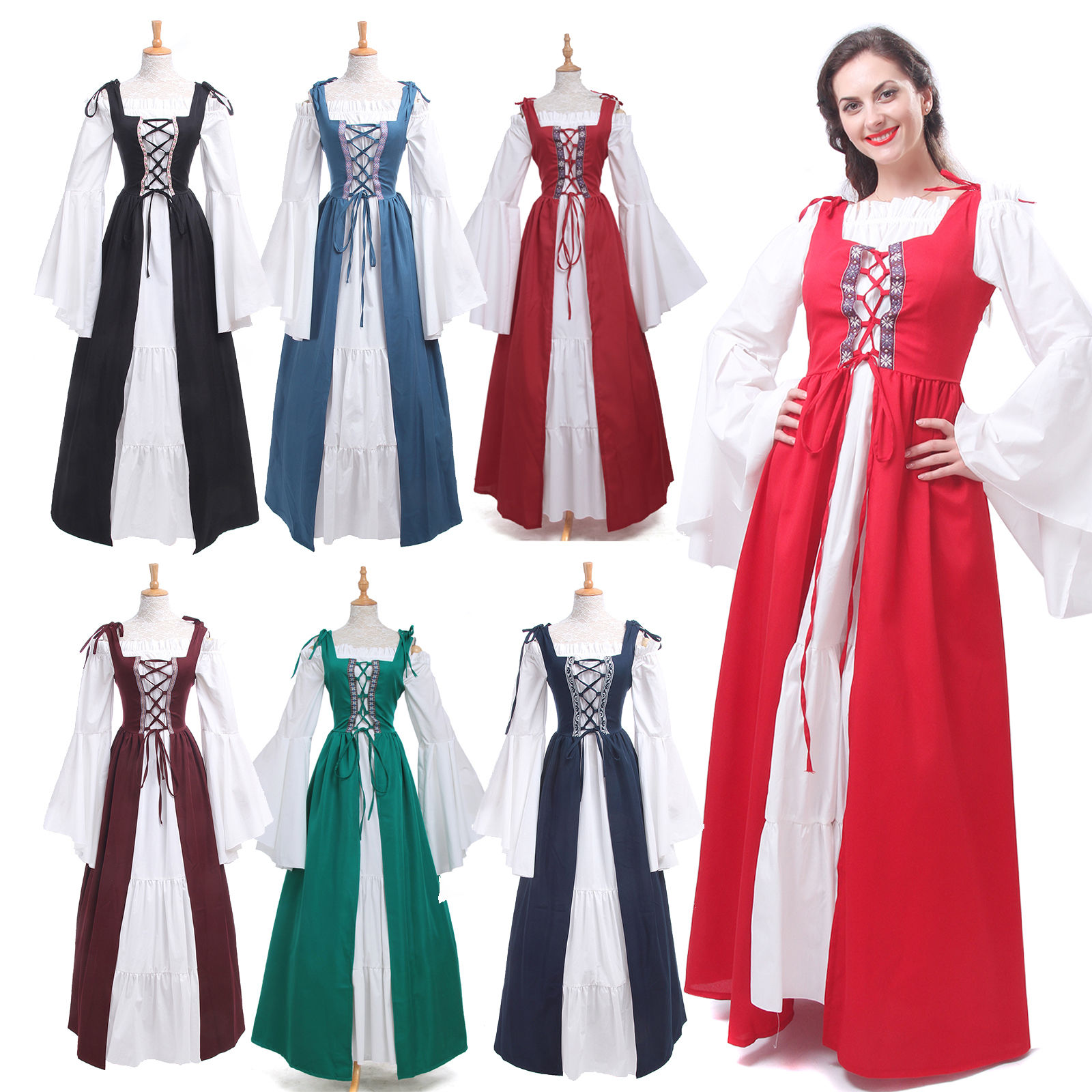 Plus Size Vintage Dress Women Renaissance Medieval Gown Wench Chemise  Cosplay Costume Dress Qawc-3504 - Buy Renaissance Dress Costume,Vintage  Dress ...