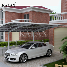 High quality commerical outdoor prefab car parking shelter aluminum carport with polycarbonate