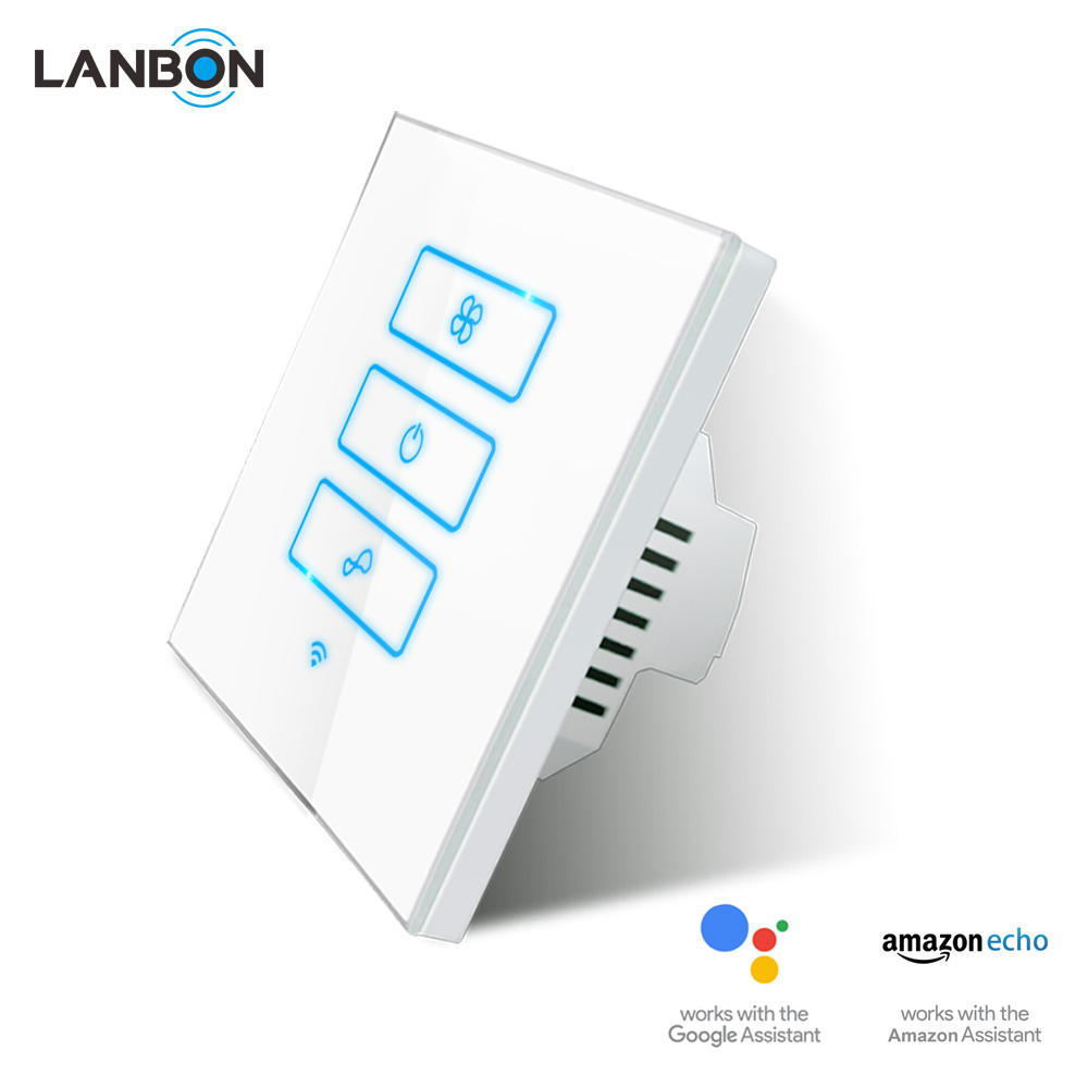 LANBON devices fan controller Works with Amazon Alexa Wifi Smart Wireless Smart Switch Smart Home 220V better than sonoff