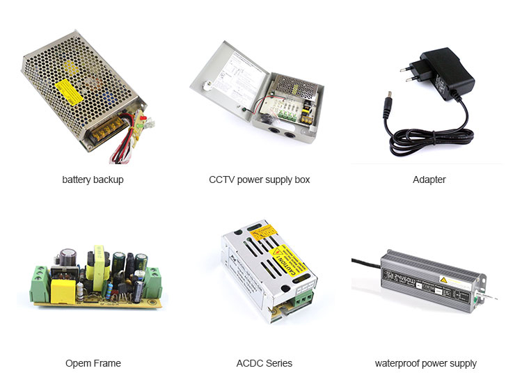 AC DC 220vac zu 12v 5a 60w cctv power supply box für cctv