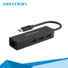 3 Port USB 3.0 Type C HUB With RJ45 Lan Ethernet Adapter