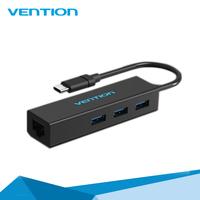 3 Port USB 3.0 Type C HUB With RJ45 Lan Ethernet Adapter