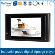 Flintstone 10 inch pos machine display screen digital price led shelf edge display for supermarket video download advertisement