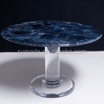Factory price funiture Sodalite Blue Beads Strands marble table/funiture