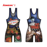 OEM sublimation printed wrestling singlets for men