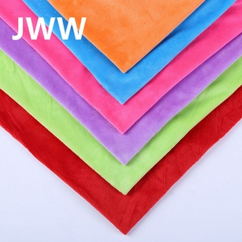 100% Polyester Solid Color wholesale Super Soft velboa Fleece plush Fabric for Garment,Toys,Blanket,,Home Textile,Shoes