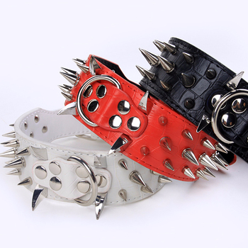 Wholesale leather large size dog spike collars