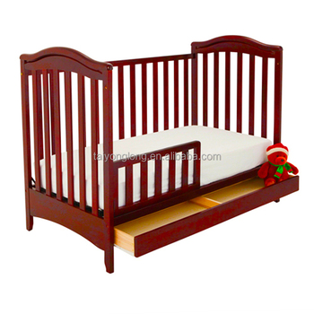 Cherry Color Nontoxic Painting Wooden Baby Crib/baby Crib Supplier