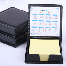 B05 Leather Box Sticky Note Pad or office school and promotion gifts