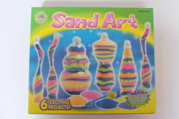 2015 new craft colorful kids sand art bottles wholesale for Craft kits for kids in bulk
