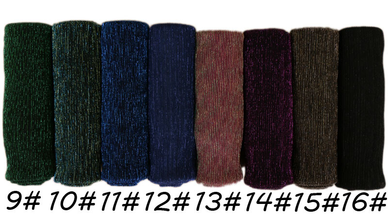 Top selling 24 colors breathable golden thread solid color hijab