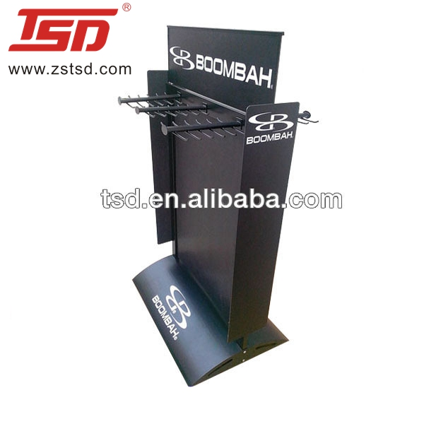 Boombah baseball bat display stand/doppelseitige fledermaus display rack/metall sport waren display racks