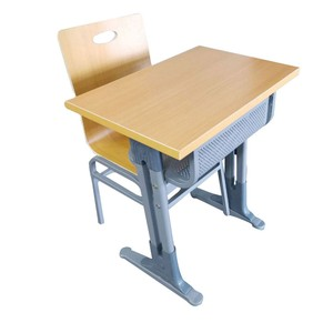 Fireproof Modern Cheap High School Plastic Or Wooden School Student Desk And Chair Set