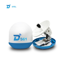 Ditel S61 63cm 3-axis ku-band outdoor marine gps tv antenna mobile network antenna wireless satellite  boat dish antenna