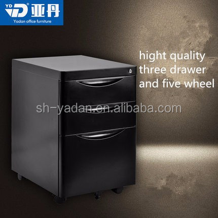 2016 Mobile Large Storage File Chest Moves Lateral Under Desk Box/easy move three drawer cabinet
