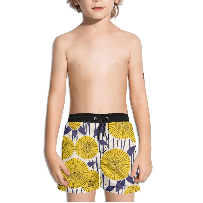 Ouxioaz Boys Swim Trunk Abstract Leaf Purple Beach Board Shorts