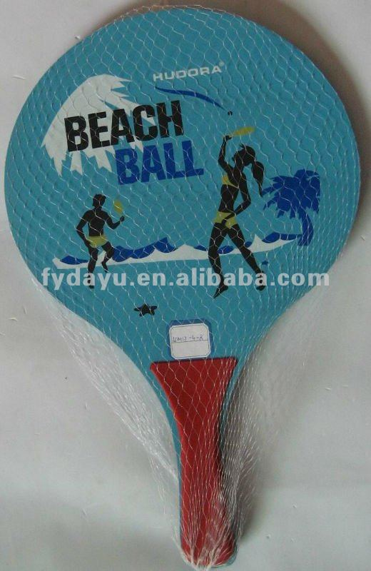 Customize beach rackets with ball paddle beach tennis racket for promotion