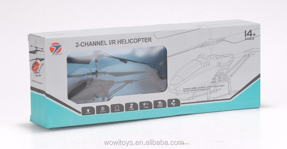 2CH I/R plastic helicopter with gyro, easy control, for beginners