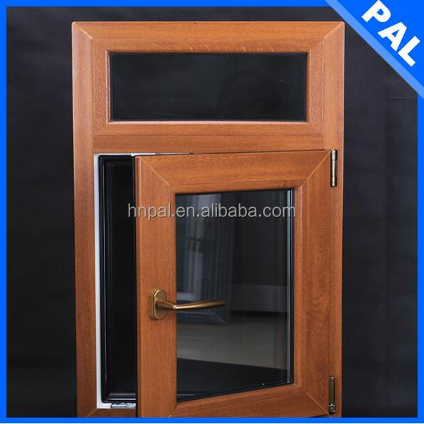 Wind resistance wooden color vintage wooden window frame With ROTO hardware