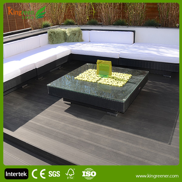 Kingreen wood substitute wpc composite decking floors for 3m composite decking boards