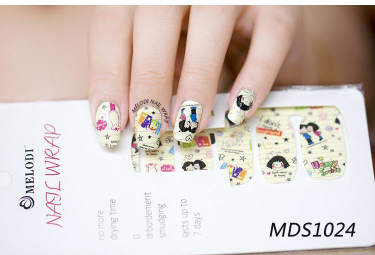 Asian 3d Press On Fake Nail Art Supplies