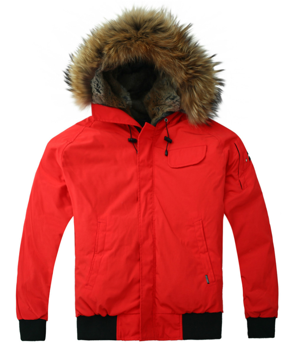 cheap Alaska winter jacket down coat jacket Red wholesale free shipping-in Parkas from Men's