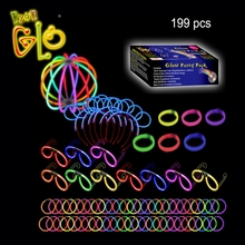 199 Pcs Pack Glow Stick Party Pack Glow In The Dark