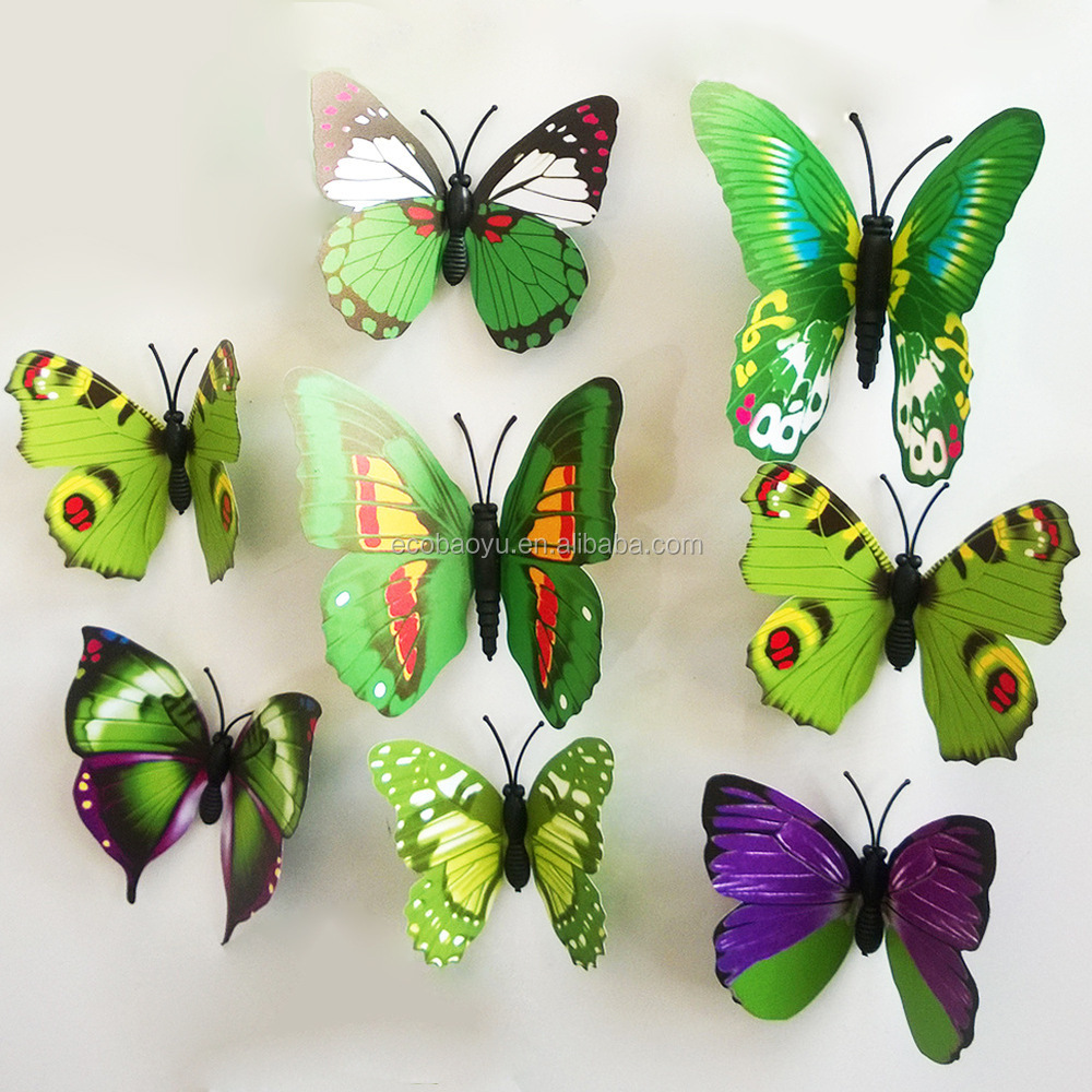 3d Butterfly Wall Decor 3d Butterfly Sticker For Home Wall Decoration Diy Sticker Buy