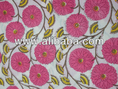 exporter 100% cotton indian jaipur sanganeri hand block printed designer vegetable color fabric for dress material