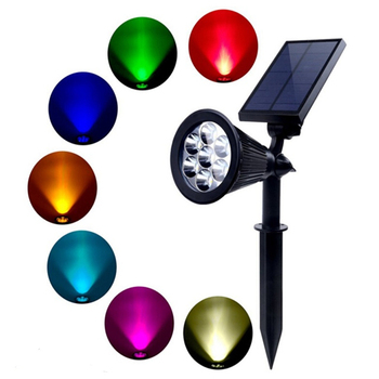 7 LED Outdoor Color Changing Landscape Lights Outdoor Garden Solar Path Light Powered LED Lamp Lawn Light